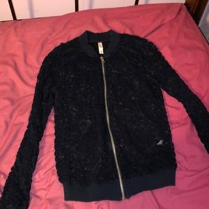 Tops - navy blue lace sweater